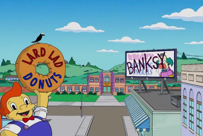 La couch gag dei Simpsons firmata da Banksy