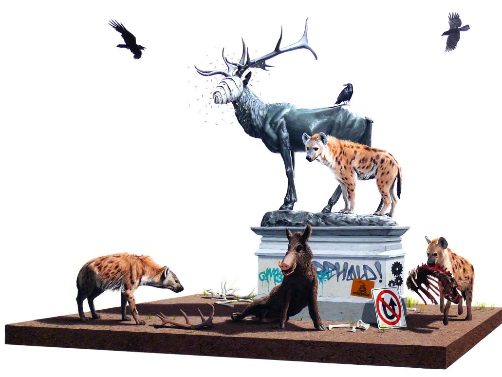 Gli artwork surreali del pittore Josh Keyes | Collater.al