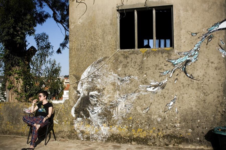 La street art di Alexandre Farto aka VHILS | Collater.al