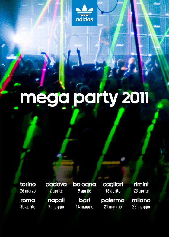 Adidas originals mega party 10 eventi gratuiti in tutta for Adidas originals palermo