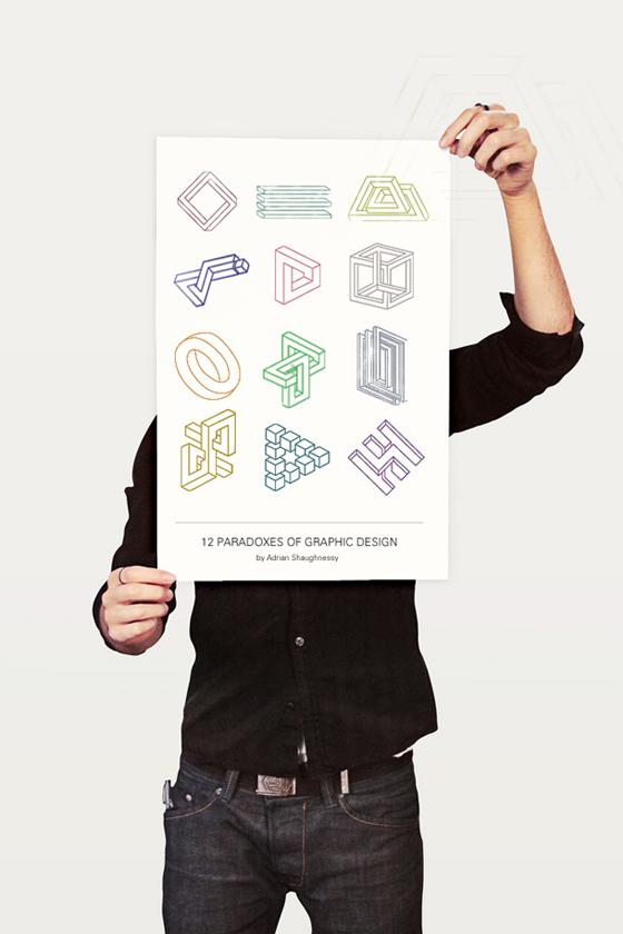 I 12 paradossi del graphic design illustrati da Tobias Bergdahl - Poster