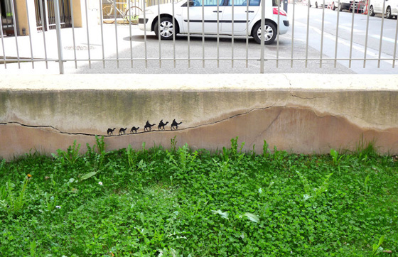 OakOak - Street Art - Giocare con gli elementi urbani