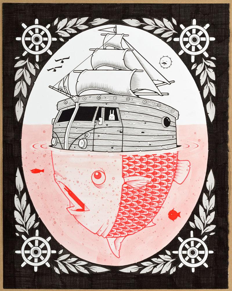 Le illustrazioni dello skater e street artist Jeremy Fish | Collater.al
