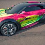 Françoise Nielly – Fluo Painting – Survolt Art Car