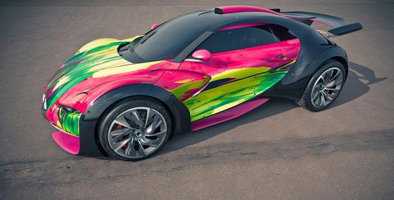 Françoise Nielly - Fluo Painting - Survolt Art Car