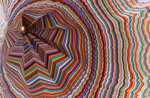 Colorful paper art by Jen Stark