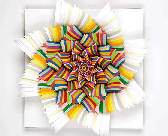 Jen stark paper art sculture di carta for 3d paper craft ideas from jen stark