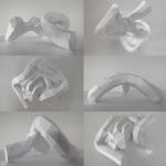 Horst Kiechle – Paper Torso – Busto realizzato con la carta