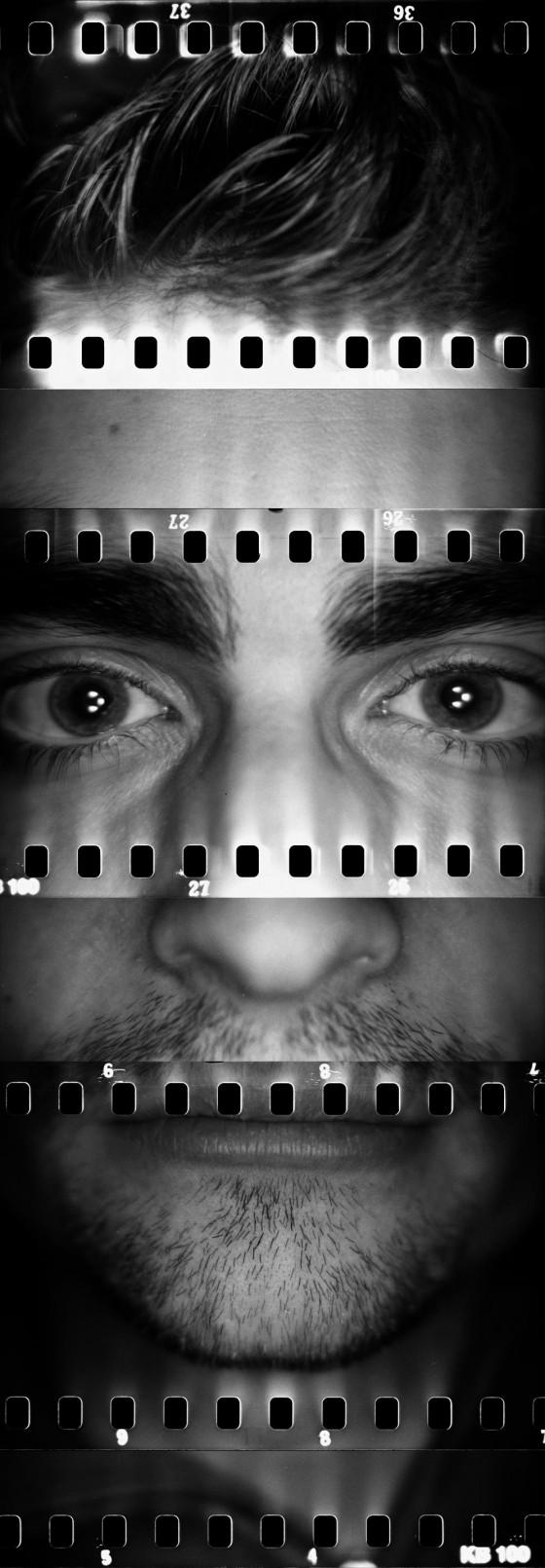 fisiognòmica project - Foto di volti ricomposti in diversi scatti su pellicola