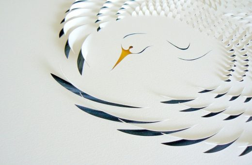 Delicate paper art by Lisa Rodden