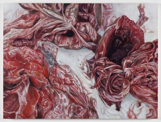 Victoria Reynolds - Meat Paintings - Dipinti realistici di carne cruda