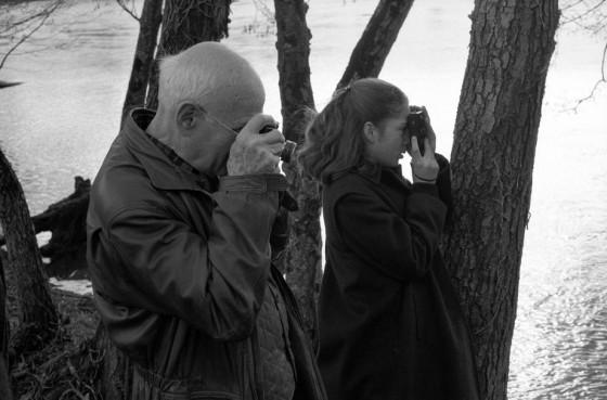Martine Franck , moglie di Cartier-Bresson - H.C. Bresson and his daughter Mélanie