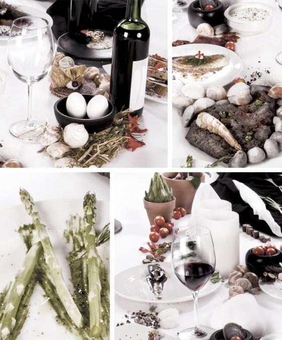René Redzepi - Volto realizzato con cibo e utensili da cucina