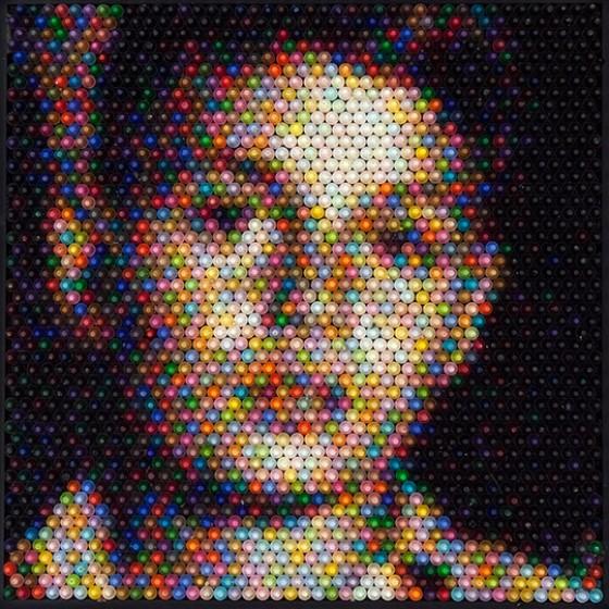 Christian Faur - Crayons - Ritratti composti da pastelli a cera