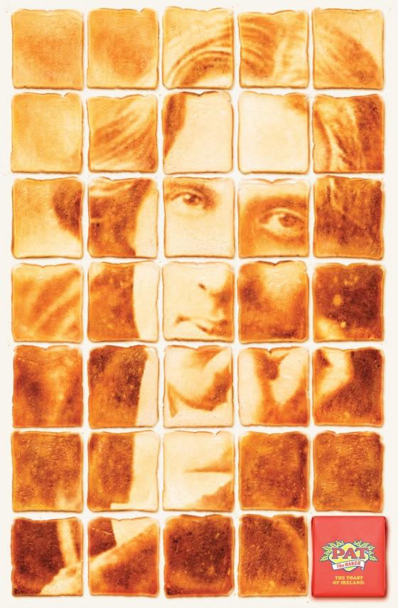 Pat the Baker - Volti di scrittori formati dal pan-carrè.
