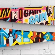 (Sub)Prime-Cuts - Coloratissimo set di seghe dipinte a mano