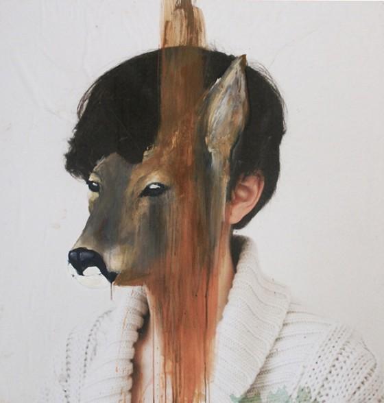 Charlotte Caron, hind, fotografia e acrilico, 90x90 cm, 2011