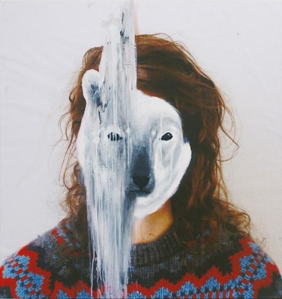 Charlotte Caron, polar bear, fotografia e acrilico, 90x90 cm, 2011