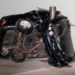 Dirk Skreber - Crash - Macchine accartocciate a un palo.