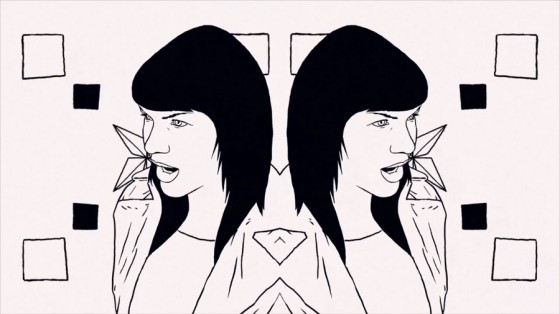 Kris Menace feat. Miss Kittin - Hide - Video animato diretto da Mathieu Bétard