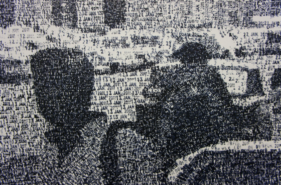 Federico Pietrella - Dipinti realizzati con con un timbro