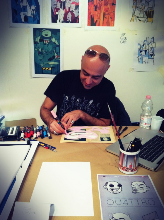 Collateral meets QU4TTRO - David Diavù Vecchiato - Intervista all'artista e cartoonist italiano, curatore di MondoPOP Gallery