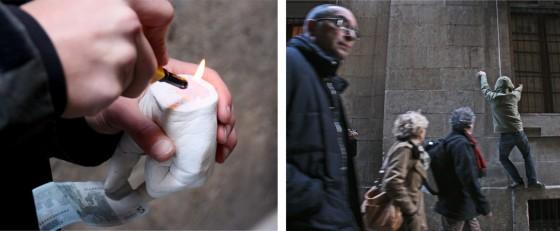 Hands - Installazione di mani in silicone a Barcellona
