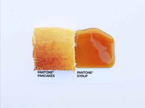 David Schwen - Pantone Pairings - Campioni di Pantone realizzati con accostamenti di cibo