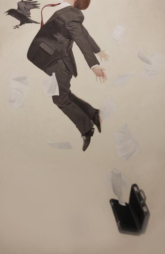 Alex Hall - Relativity - Dipinti surreali sull'indecisione e l'incertezza