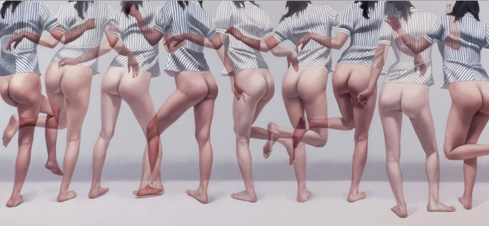 Ho-Ryon Lee - Overlapping Images - Dipinti di foto sovrapposte