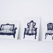 YOY Design Studio - Canvas - Sedie elestiche a forma di quadro