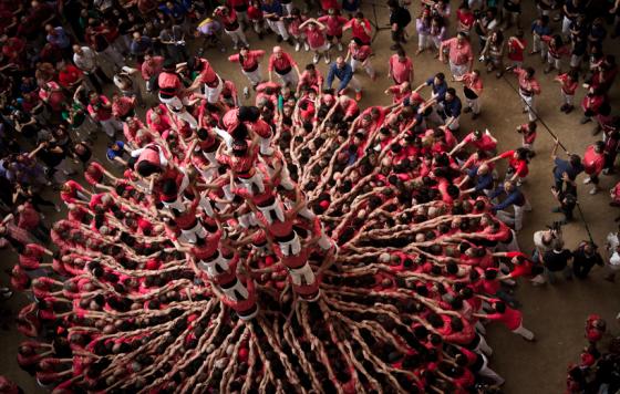 Castells - Spettacolari foto delle torri umane di Tarragona