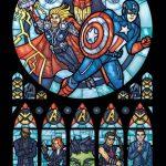 Superhero Stained glass – Finte vetrate raffiguranti supereroi