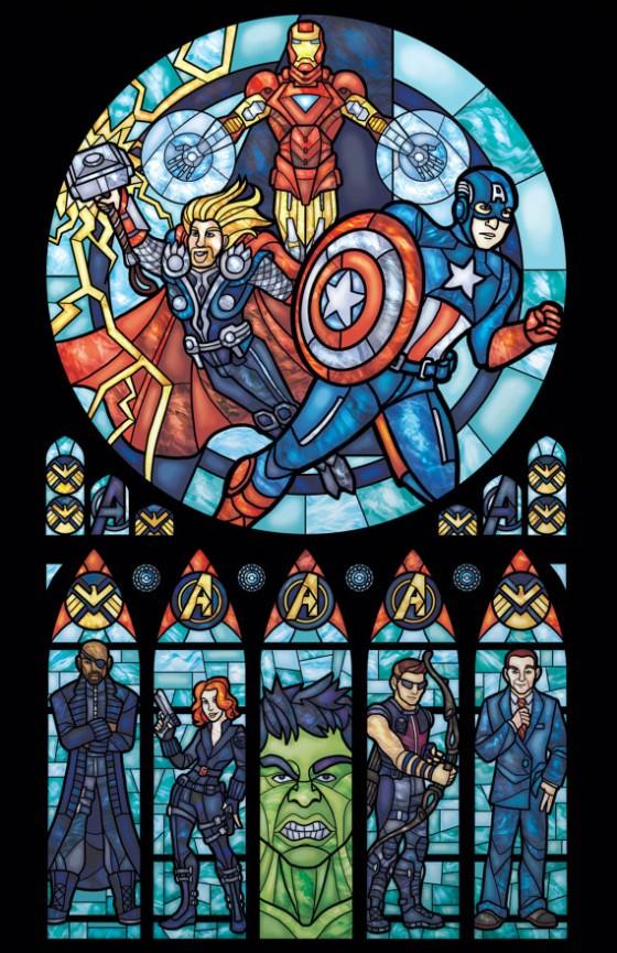 Superhero Stained glass - Finte vetrate raffiguranti supereroi