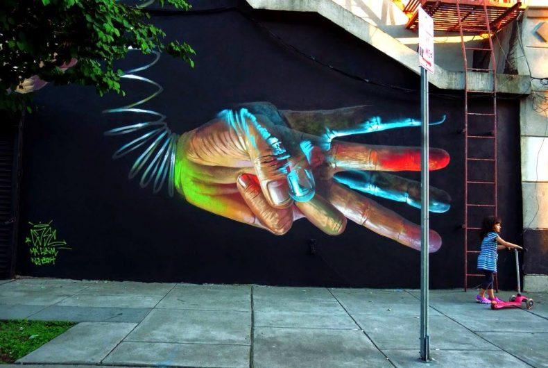 La street art di Case, fondatore della Ma'Claim Crew