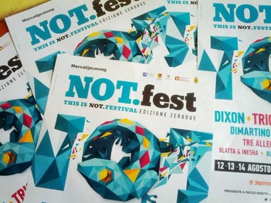 NOT.fest - Edizione Zerodue -12/13/14 agosto - Noto