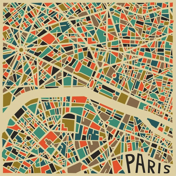 JazzBerry Blue – Abstract Maps