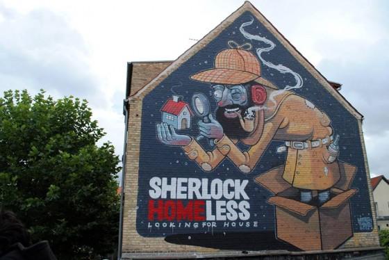 Mister Thoms - Il character design deventa street art