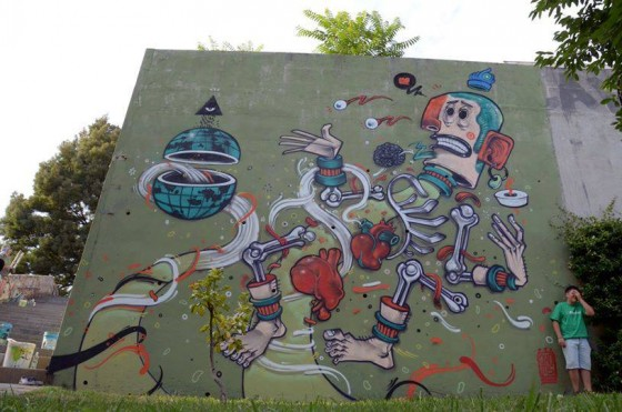 Mister Thoms - Il character design deventa street art