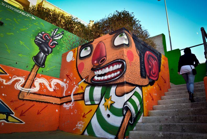 La street art cartoonesca dell'italiano Mister Thoms