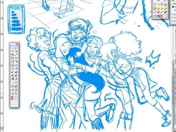 Cooking Time! - Fumetto, scritto da Katja Centomo e Francesco Artibani e disegnato da Flaviano Armentaro