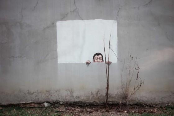 Zacharevic - Singapore - La street art interattiva dell'artista lituano