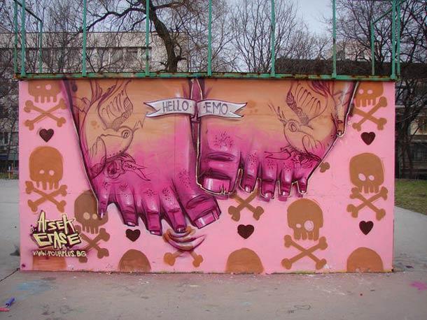 I graffiti che colano di Georgi Dimitrov aka Erase