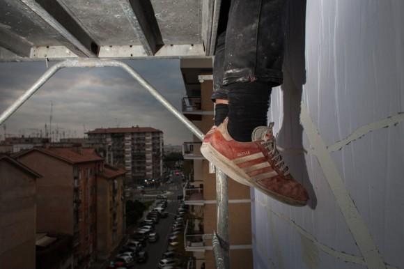 Sten & Lex - Outdoor 2013 - Nuovo murales a Roma Garbatella