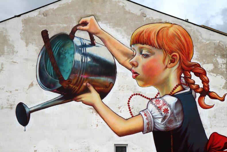 La street art dell'artista polacca Natalia Rak