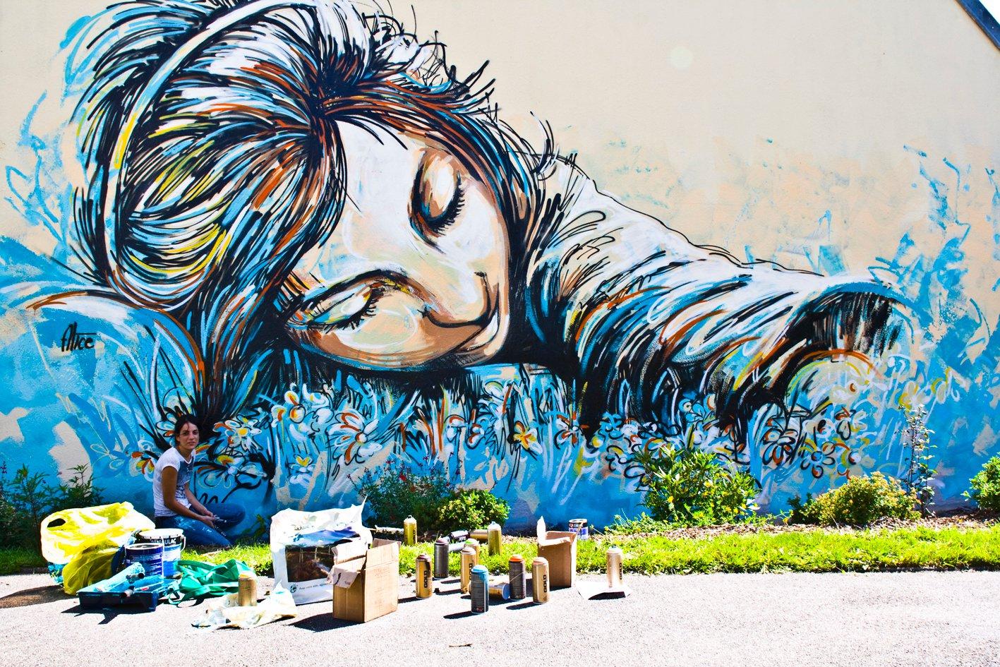Alice pasquini street artist romana for Immagini graffiti hd