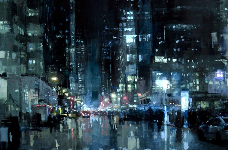 Cityscapes by painter Jeremy Mann