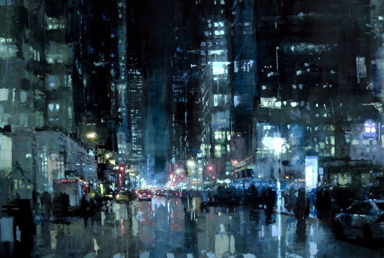 Cityscapes by painter Jeremy Mann