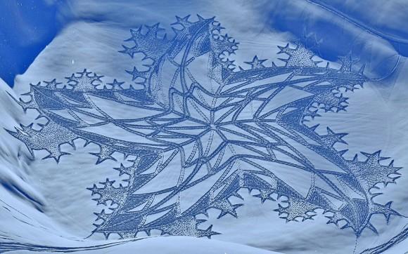 La Snow Art dell'artista Simon Beck