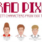Brad Pixel - Brad Pitt characters in pixel dal 1991 al 2014